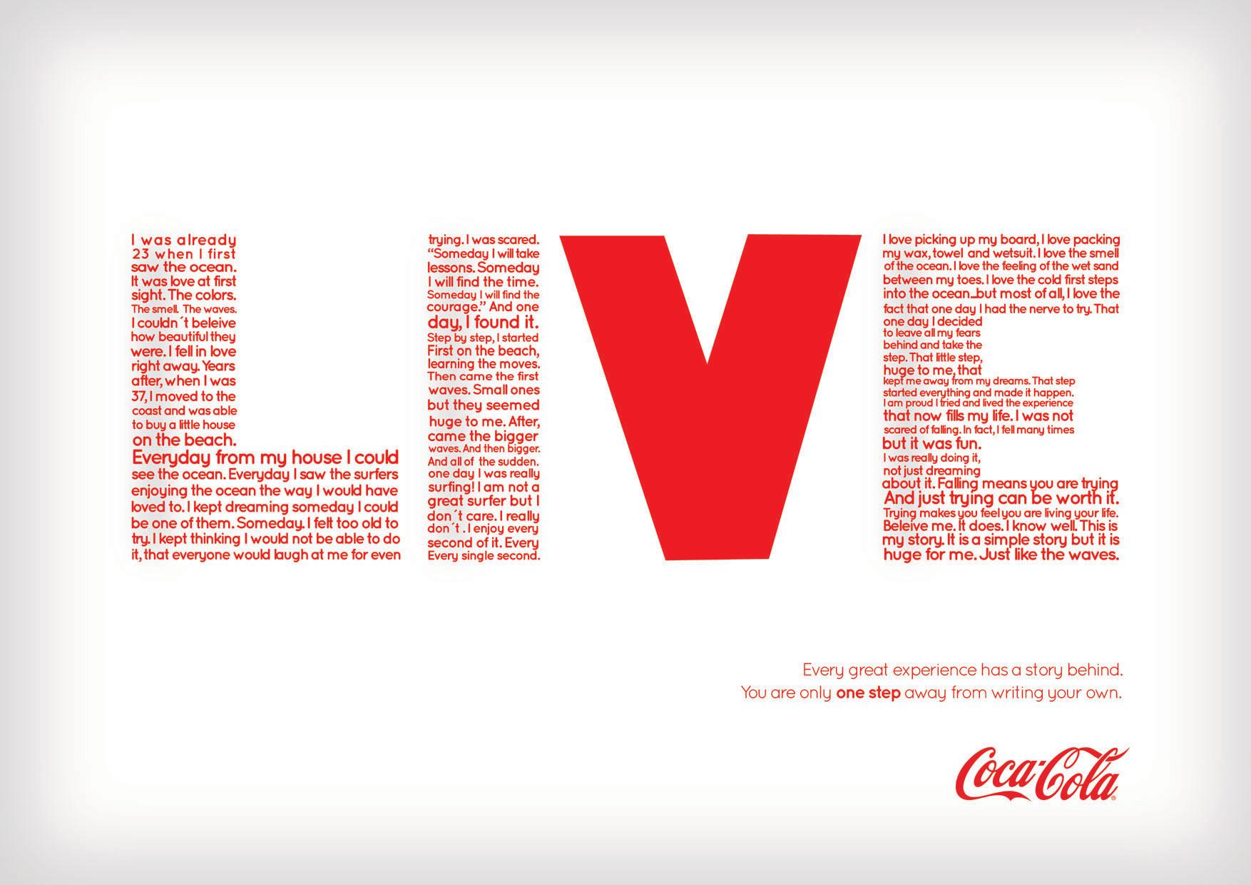 Mondays at work gráfica ganadora de concurso para Coca-Cola